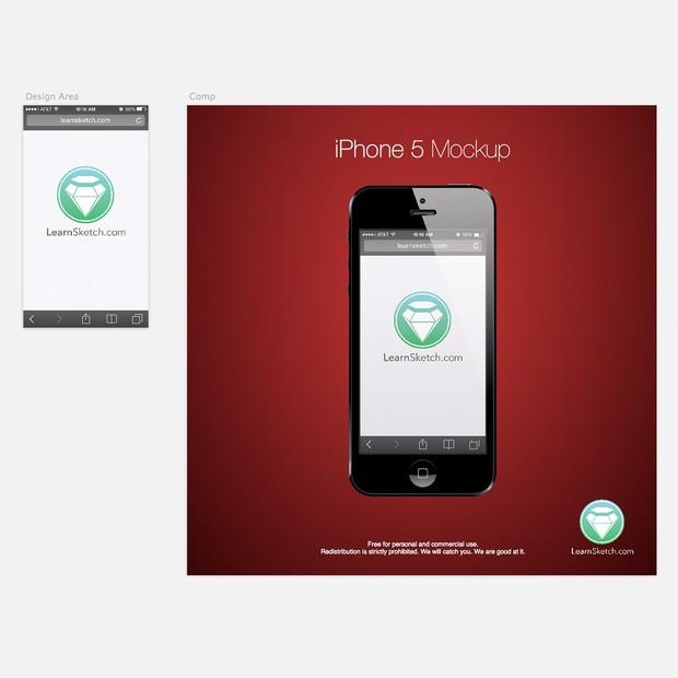 iPhone 5 Device Mockup