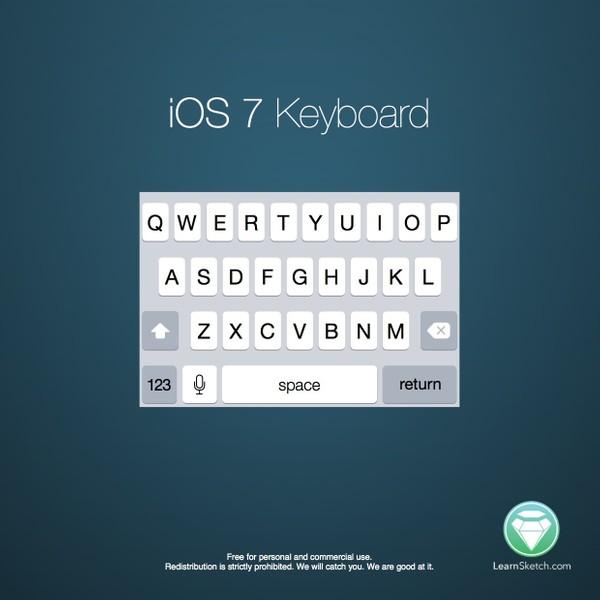 iOS 7 iPhone Keyboard