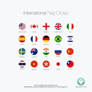 International Flag Circles