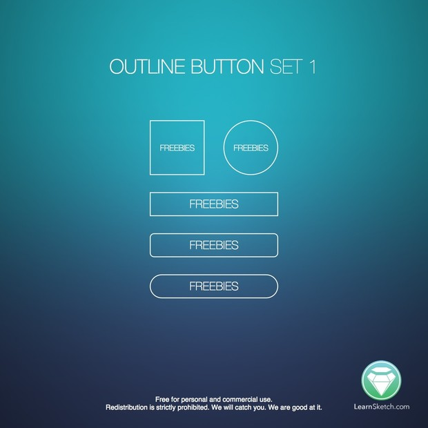 Outline Button Set 1