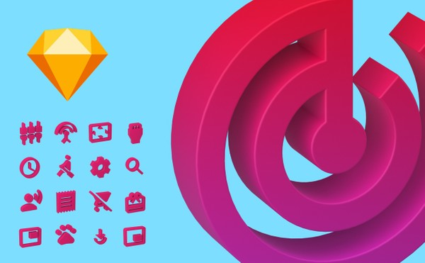 3D Action Icons for Sketch