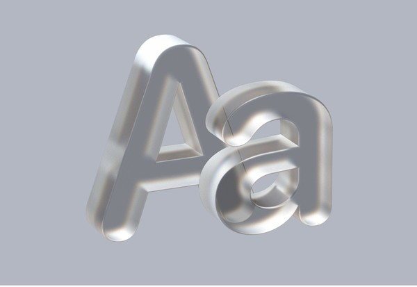 Frosted Glass Prism Numbers and Letters