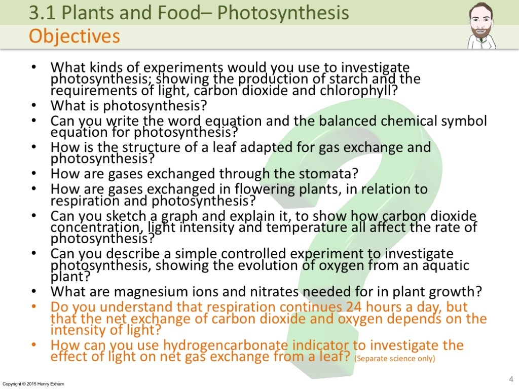 investigation of the rate of photosynthesis Investigating the effect of light intensity on the rate of photosynthesis to investigate the effect of light intensity on the rate of photosynthesis.