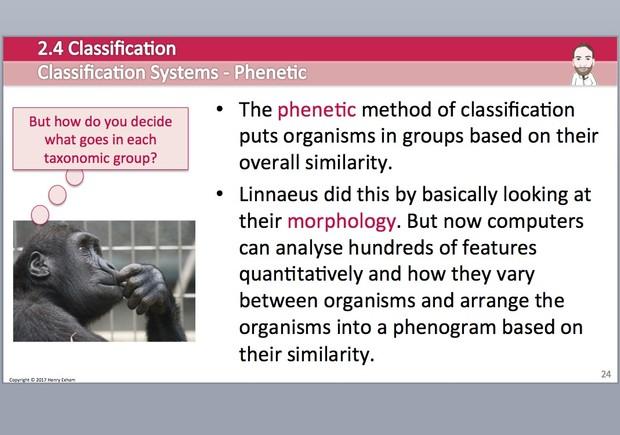 Cambridge Pre-U Biology - 2.4 Classification