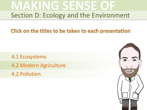 IGCSE Biology - Ecology and the Environment Presentation Bundle