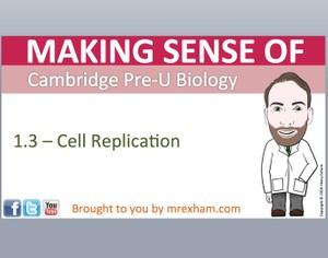 Cambridge Pre-U Biology - 1.3 Cell Replication