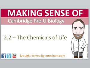 Cambridge Pre-U Biology - 2.2 Chemicals of Life Presentation
