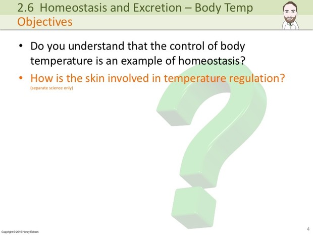 IGCSE Biology - Control of Body Temperature Presentation