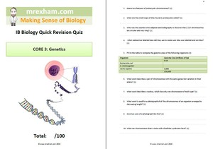 IB Biology Revision Quiz Core 3 - Genetics