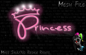 Neon Princess Sign