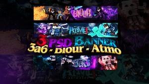 3 PSD BANNER // 3a6 - Atmo - Blour