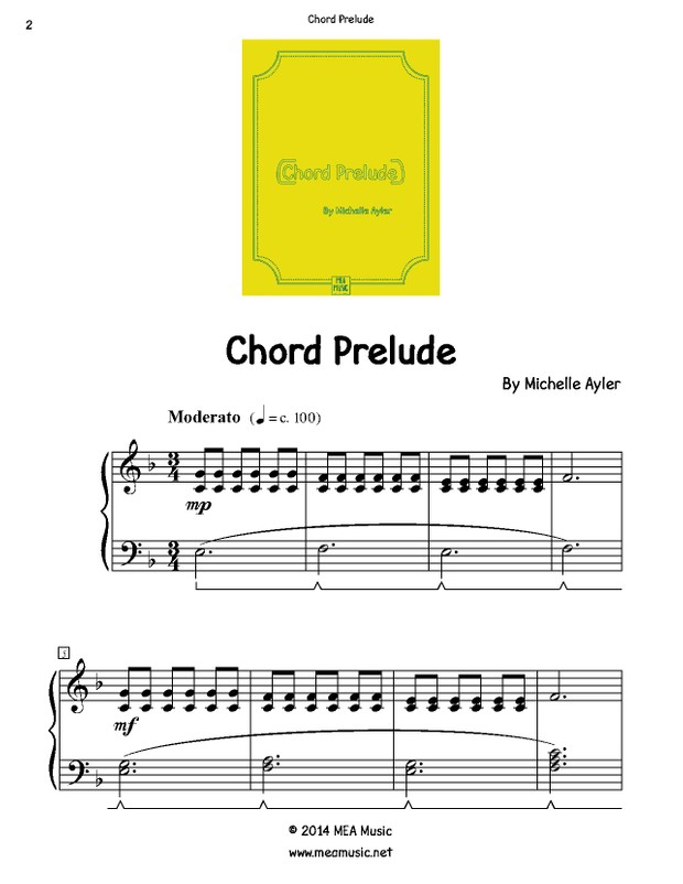 Chord Prelude Easy Piano Song Mea Piano Studio