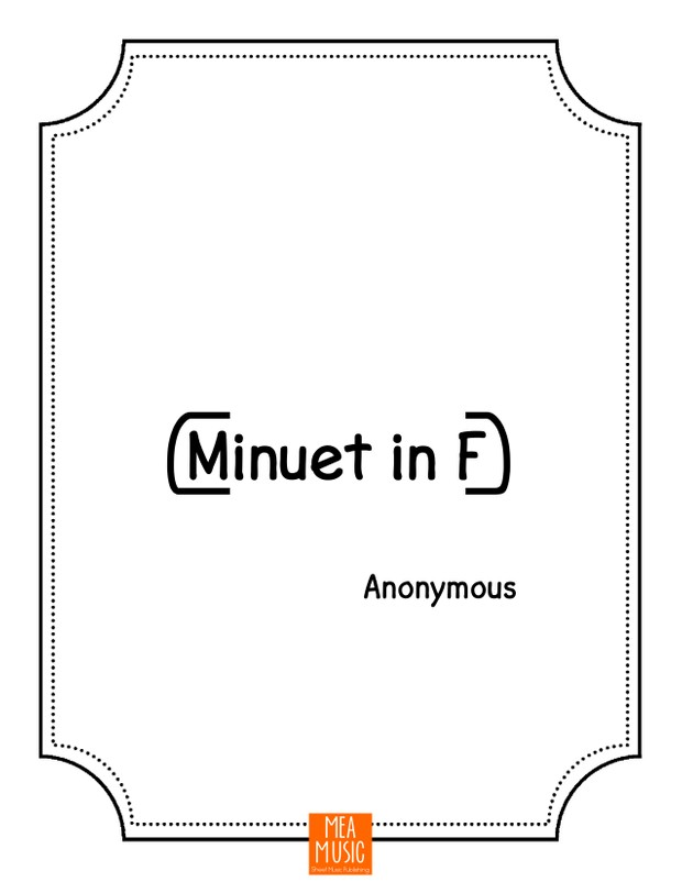Minuet in F: Easy Piano Song