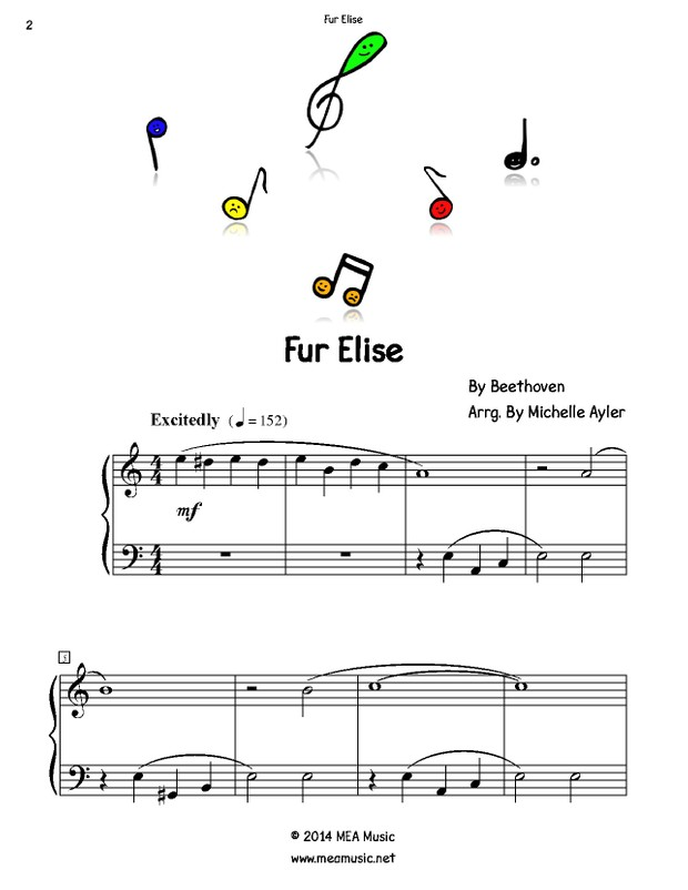 EZ Piano For Fur Elise: Easy Piano Song