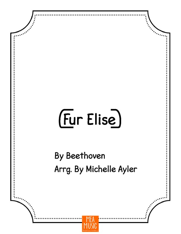 Fur Elise With Letters: Beginning Piano Song