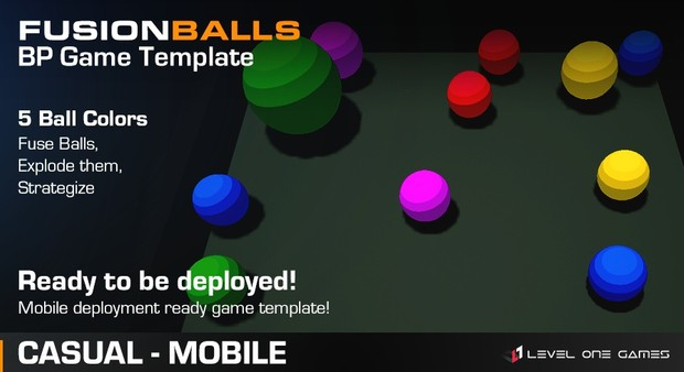 Fusion Balls - Game Template [ Unreal Engine 4 ]
