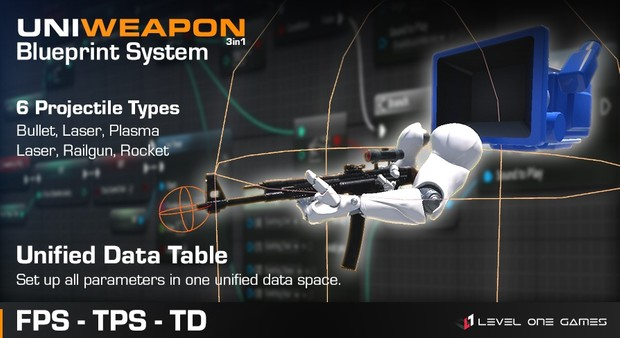 UniWeapon - FPS, TPS & Tower Defense Unified Weapon System [ Unreal Engine 4 ]