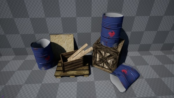 Barrels, Crates & Woods - Props [ Unreal Engine 4 ]
