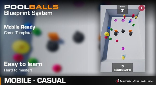 Pool Balls - Mobile Game Template [ Unreal Engine 4 ]