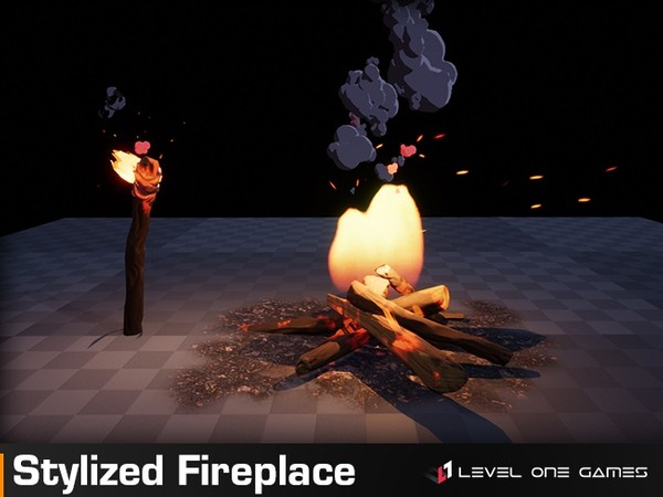 Stylized Fireplace & Smoke PRO [ Unreal Engine 4 ]