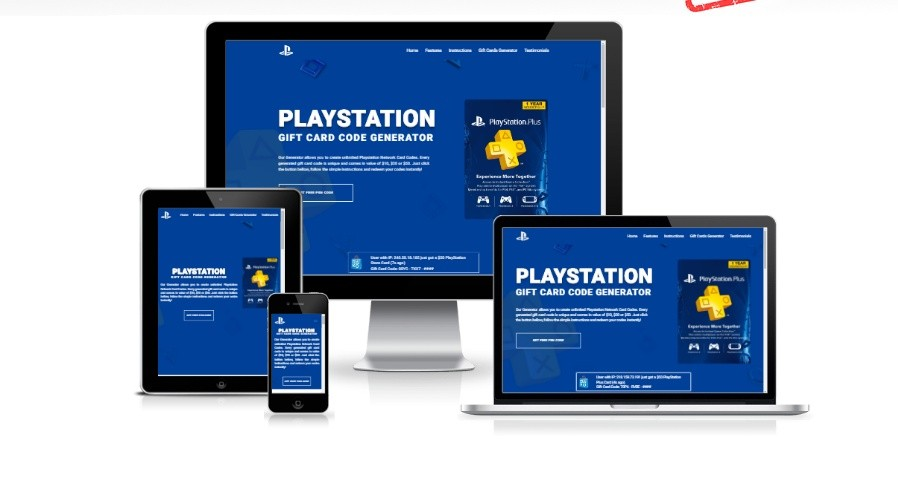 Playstation Gift Card Generator Landing Page Template