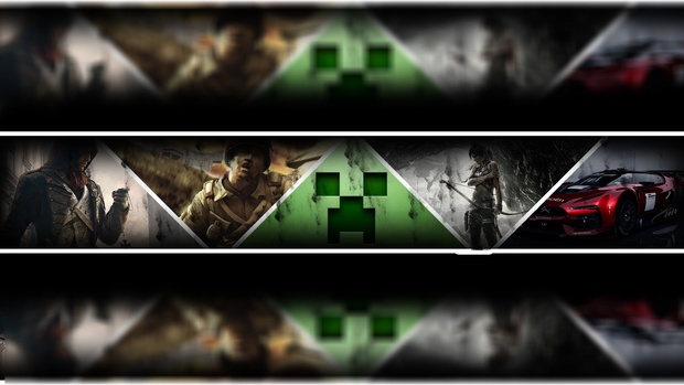 youtube gaming banner template mrcupcake