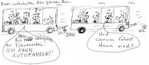 Busgeschichten mit Sammy, dem Krankenhausfluchttier