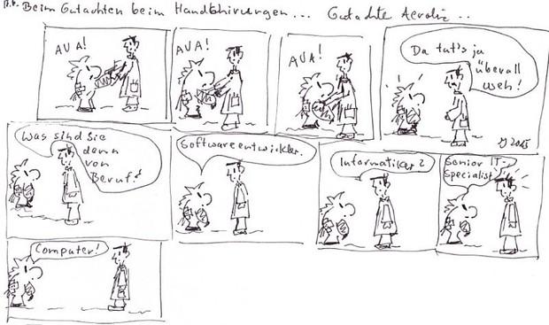 Comic: Sammy das Krankenhausfluchttier