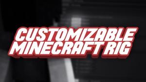 Customizable Minecraft Rig