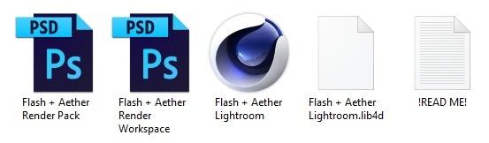 Flash + Aether Render Pack