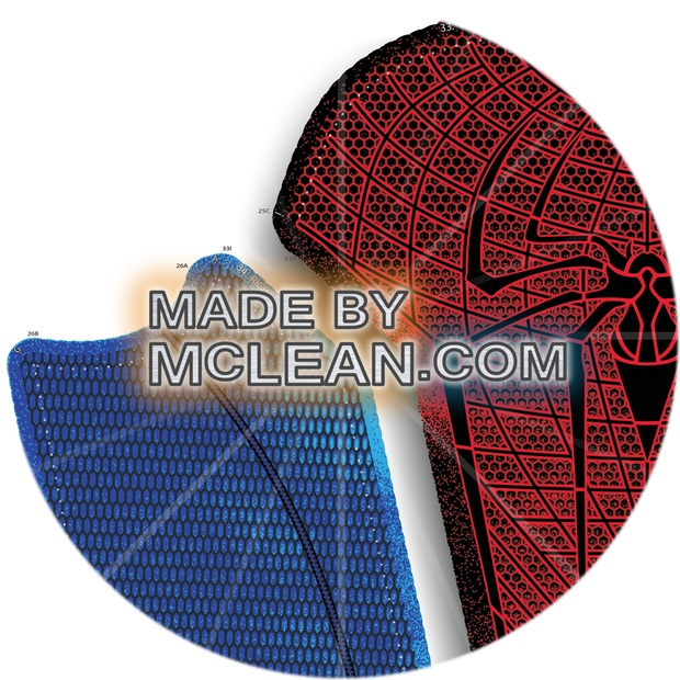 MadebyMcLean Amazing Spider-Man 1 Dye-Sublimation Ready Print with Separated Blue and Red Sections