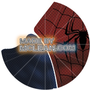 MadebyMcLean Ultimate Spider-Man Dye-Sublimation Ready Print with Separated Blue and Red Sections