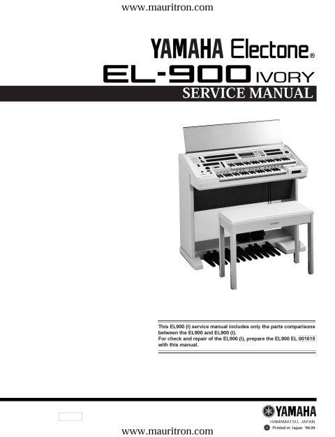 Yamaha EL900 Service Manual