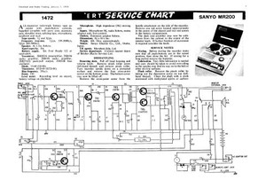 Sanyo MR200 Service Schematics