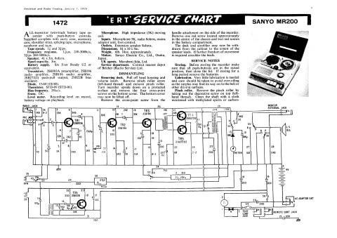 Sanyo MR200 Service Schematics