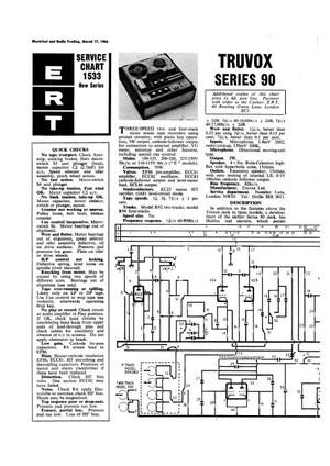 Truvox Series 90 Service Schematics