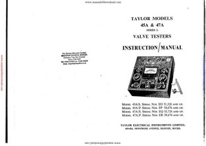 Taylor 45A Instruction Manual