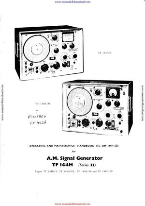 Marconi TF144H Instruction Manual