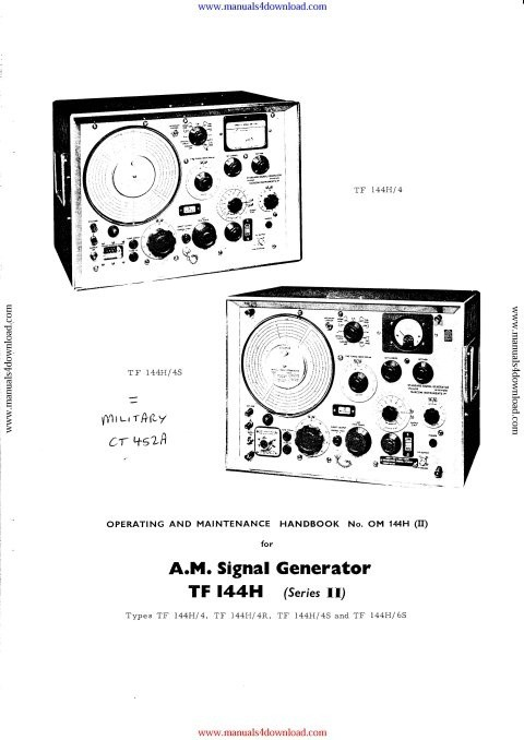 Marconi TF144H Instruction Manual