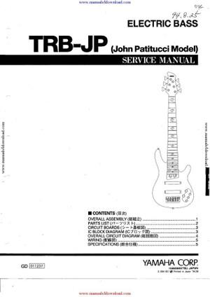 Yamaha TRB-JP Service Manual