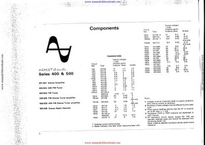 Armstrong 526 Service Info