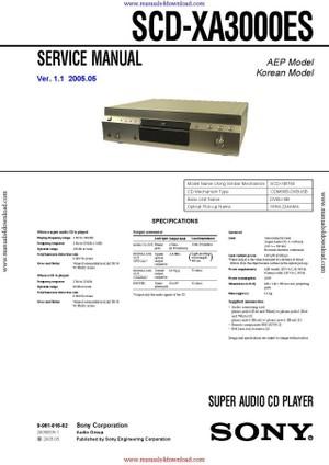 Sony SCD-XA3000ES Service Manual