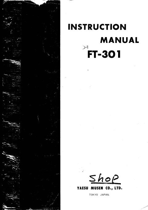 Yaesu FT301 Instruction Manual