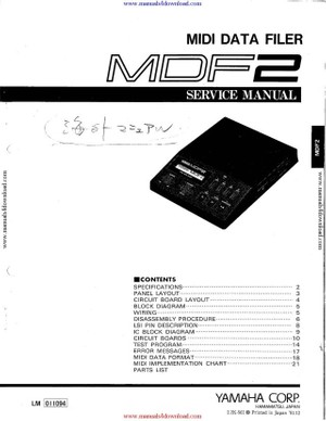 Yamaha MDF2 Service Manual