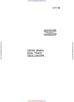 Gould OS1100 Instructions with Schematics