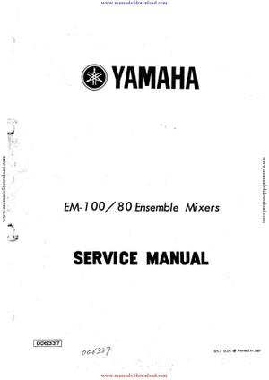 Yamaha EM100 80 Service Manual