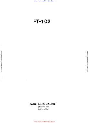 Yaesu FT102 Service Manual