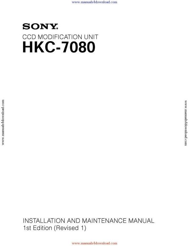Sony HKC7080 Service Manual