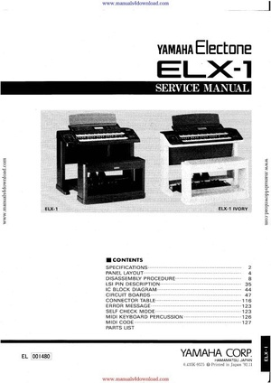 Yamaha ELX1 Service Manual