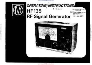 AVO HF135 Signal Generator Instructions with Schematics